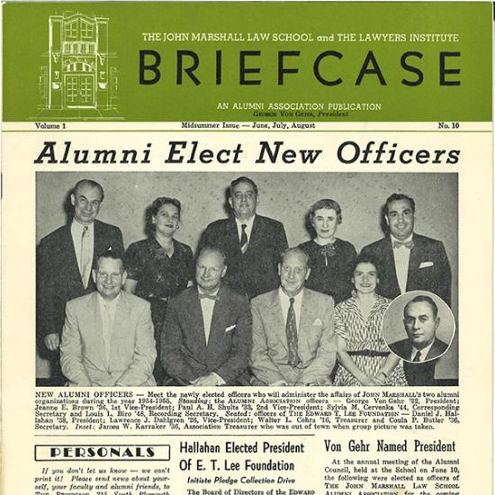 Cover of Summer 1954 Newsletter